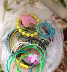 Детские браслеты и кольца 💍
