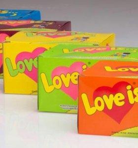 Жвачка Love is(блок 100шт.)