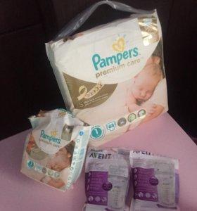 Памперсы и пакеты для молока