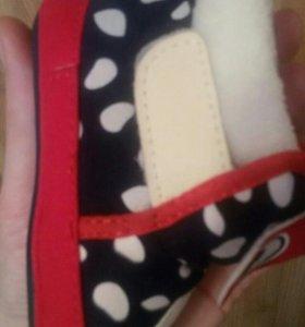 Теплые пинетки ботинки новые