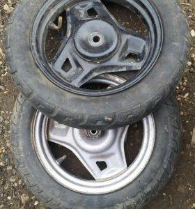 """Диски, колеса: задний, передний 10"""" Honda DIO"""