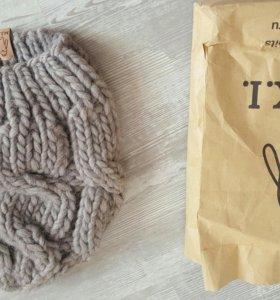 Теплая зимняя шапка серого цвета фирмы Микки