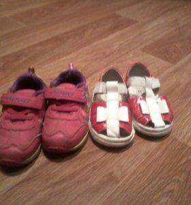 Кросовки и туфли размер кросовок 24 а туфель 21