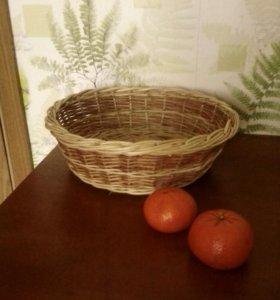 Плетеная тарелка