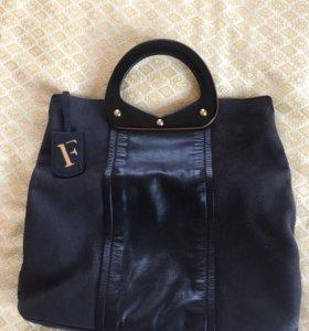 Кожаная сумка Furla оригинальная женская