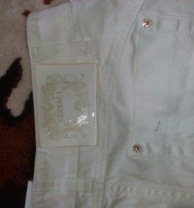 Белые джинсы Versace оригинал