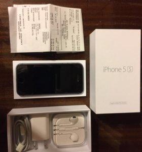 Продаю iPhone 5s 64 gb + стекло и чехлы