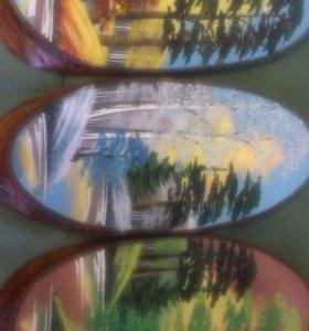 Картины из камней на дереве