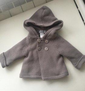 Теплая кофта-пальто