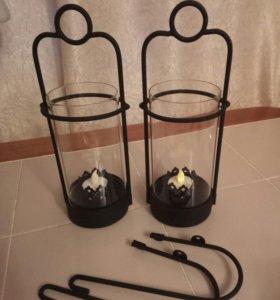 Подсвечники с исскусственными свечами