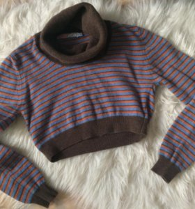 Укорочённый свитер джемпер жилет flo&jo