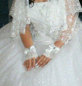 Свадебное расписное платье на прокат за