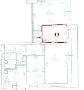 Продам комнату в 4-комнатной квартире