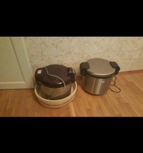 Рисоварка,термос,катка,нож,камень для ножа.