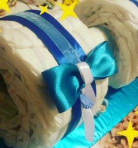 Тортики из памперсов Huggies Elite Soft