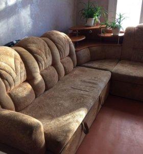 Уголовой диван + кресло