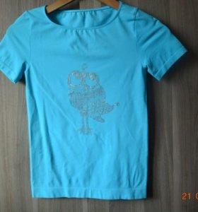 «Цапля» ручная роспись красками на одежде