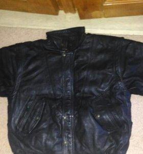 Кожанная утепленная куртка-жилетка