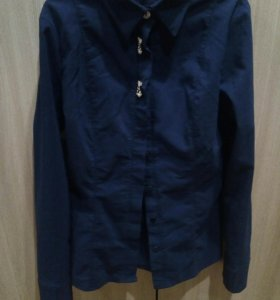 Рубашка синяя(школьная)
