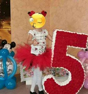 """Объемная цифра """"5"""""""