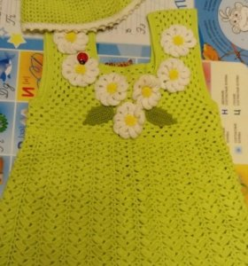Платье для девочки на 9-12 месяцев