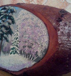 Картина из дерева