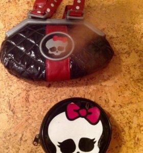 Музыкальная сумка и косметичка Monster High