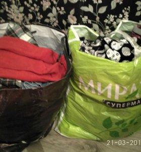 Два пакета вещей на девочку от 2 до 5 лет