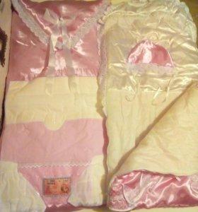 Новый конверт и одеяло для девочки