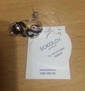Серебряное кольцо Sokolov