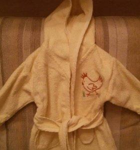 Махровый халат детский 0-3мес