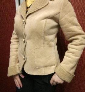 Куртка-жакет на меху р-р 44