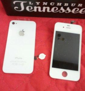 Комплект дисплей+ крышка+ кнопка на iphone 4