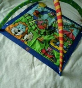 Детский развивающий коврик tiny love и игрушки