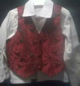 Рубашка и жилетка 86