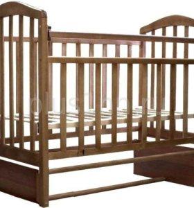 Кровать АЛИТА-5 продольного маятник (цвет Орех)