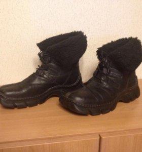 Ботинки зимние женские р 40, натуральные, б/у