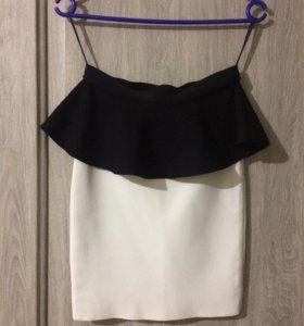 Новая юбка с баской BCBGMAXAZRIA