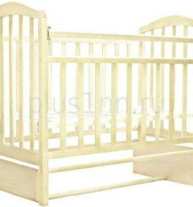 Кровать АЛИТА-5 продольного маятник (цвет Слоновая