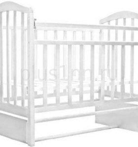 Кровать АЛИТА-5 продольного маятник (цвет белый)