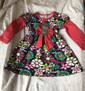 Новое платье на 9-18 месяцев