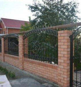 Кованые заборы,ворота,калитки