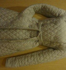 пальто стеганное весеннее