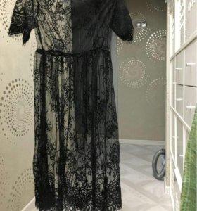 Платье миди кружево