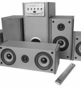 Аккустическая система sven 5.1, 150 Вт.