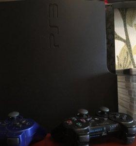 PS3+2геймпада+игры+профиль