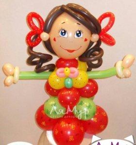 Фигурка из шаров Девочка