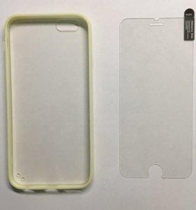 Чехол и бронестекло iPhone 6, 6s