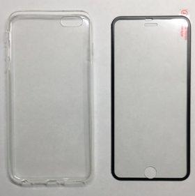 Чехол и бронестекло iPhone 6 plus, 6s plus