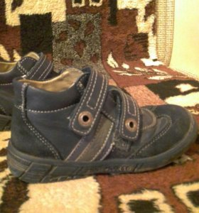 детские ботинки кожаные демисезонные